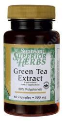 Swanson Green Tea Extract kapszula - 60 db
