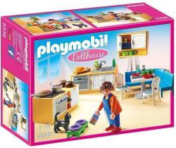 Playmobil Dollhouse - Felszerelt konyha nappalival (5336)