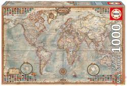 Educa Miniature Puzzle - Politikai világtérkép 1000 db-os (16764)