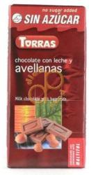 TORRAS Egész Mogyorós Tejcsokoládé (75g)