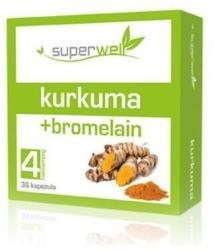 Superwell Kurkuma-bromelain kapszula - 36 db
