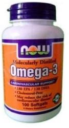 NOW Omega-3 lágyzselatin kapszula - 100 db