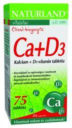 Naturland Kalcium + D3-vitamin (75db)