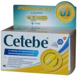 Cetebe C-vitamin+D-vitamin+Cink Kapszula (60db)