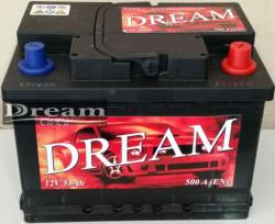 DREAM 55Ah 500A Jobb+