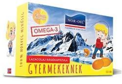 Nor-Oil Szűz lazacolaj rágókapszula gyermekeknek - 60 db