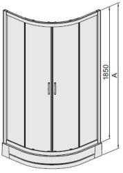 Sanplast KP4-kpl/TX5-S-80 cm zuhanytálcával