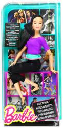Mattel Barbie - Hajlékony ázsiai jógababa lila felsőben