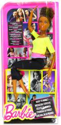 Mattel Barbie - Hajlékony fekete jógababa sárga felsőben