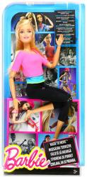 Mattel Barbie - Hajlékony jógababa rózsaszín felsőben