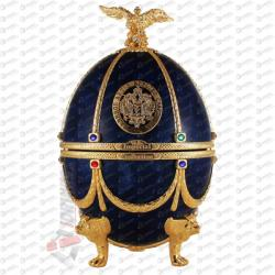 Russian Carskaja Imperial Collection Faberge Egg Sapphire Disagne Vodka (0.7L)