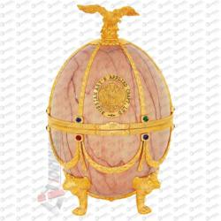 Russian Carskaja Imperial Collection Faberge Egg Onyx Disagne Vodka (0.7L)