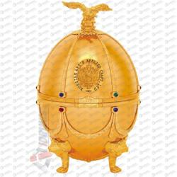 Russian Carskaja Imperial Collection Faberge Egg Gold Disagne Vodka (0.7L)