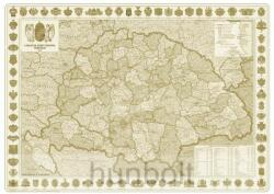 Nyír-Karta A Magyar Szent Korona Országainak Közigazgatása 1914. falitérkép, könyöklő Nyír-Karta 70x50 cm