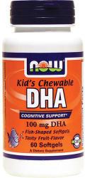 NOW Kid's DHA rágótabletta gyerekeknek - 60 db