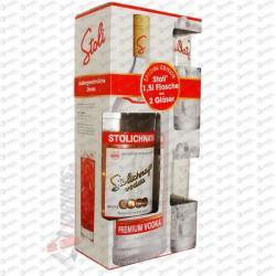 STOLICHNAYA Vodka (DD 2db Pohár) (1.5L)