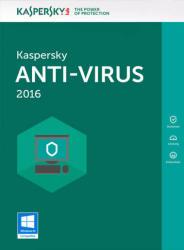 Kaspersky Anti-Virus 2016 (5 Device, 2 Year) KL1167ODEDS
