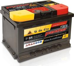 Panther-Batterien Black Edition 65Ah 570A