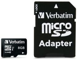 Verbatim microSDHC Premium 8GB Class 10 UHS-I U1 (44081)