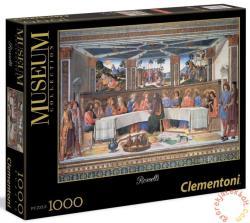 Clementoni Museum Collection - Rosselli - Az utolsó vacsora 1000 db-os (39289)