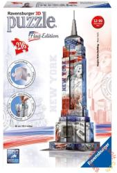 Ravensburger Flag Edition - Empire State Building, zászlós 3D puzzle 216 db-os (12583)