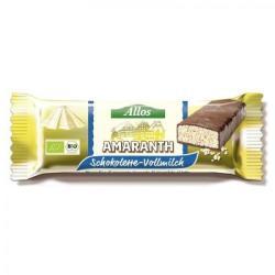 Allos Amarant Szelet Tejcsokoládéval (25g)