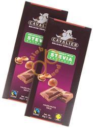 CAVALIER Egész Mogyorós Tejcsokoládé Steviával Édesítve (85g)