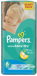 Pampers Active Baby-Dry 6 Extra Large (15+kg) 56db