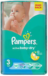 Pampers Active Baby-Dry 3 Midi (4-9kg) 68db