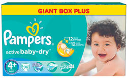 Pampers Active Baby-Dry 4+ Maxi Plus (9-16kg) 96db