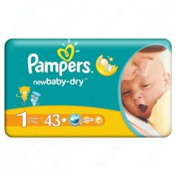 Pampers New Baby-Dry 1 Newborn (2-5kg) 43db