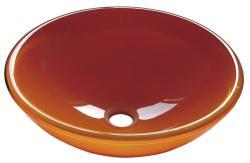 SAPHO Beauty Orange üvegmosdó 42x42x14cm (2501-08)