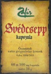 Zafír Svédcsepp kapszula - 60 db