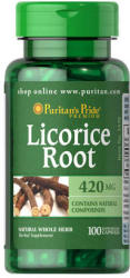 Puritan's Pride Licorice Root 420mg - Édesgyökér kapszula - 100 db