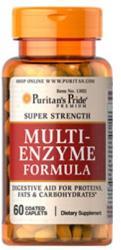 Puritan's Pride Multi-Enzyme Formula tabletta - 60 db