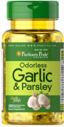 Puritan's Pride Odorless Garlic & Parsley - Fokhagyma és petrezselyem kivonat kapszula - 100 db