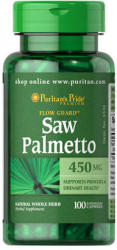 Puritan's Pride Saw Palmetto 450mg fűrészpálma kapszula - 100 db