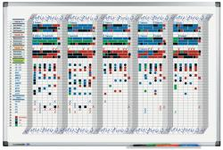 Legamaster Premium heti tervezőtábla, 35 napos bontás, 60 x 90 cm (LM7-413500)