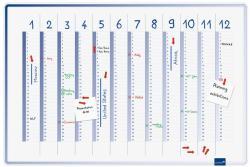 Legamaster Accents függőleges éves tervezőtábla, 60x90 cm (LM7-489000)