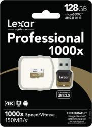 Lexar microSDXC 128GB UHS-II +Card Reader 3.0 LSDMI128CBEU1000R