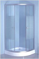 Leziter Vital 80x80x195 cm zuhanytálcával íves (UNSTS80SZT)