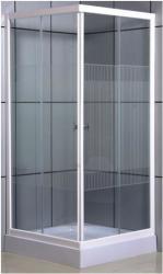 Leziter Vital + zuhanytálca 80x80x200 cm szögletes (UNSTA80SZT)