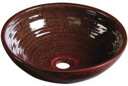 SAPHO Attila kerámia mosdó, lilás piros 44x14 cm (DK003)