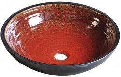 SAPHO Attila kerámia mosdó, paradicsomvörös/kerozin 44x14 cm (DK007)