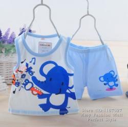 Prichindel Set haine vara baieti elefant / ursulet