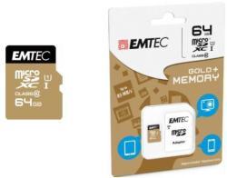 EMTEC microSDXC 64GB Class 10 Gold ECMSDM64GXC10GP