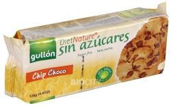 gullón Diabetikus Csokidarabos Cookies Keksz (125g)