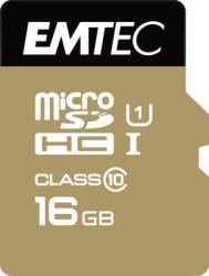 EMTEC MicroSDHC Gold Plus 16GB Class 10 ECMSDM16GHC10GP
