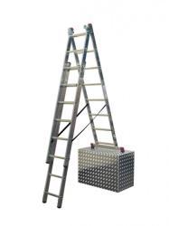 KRAUSE CORDA 3x11 fokos sokcélú létra lépcsőfunkcióval (013422)
