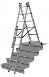 KRAUSE CORDA 3x6 fokos sokcélú létra lépcsőfunkcióval (013361)
